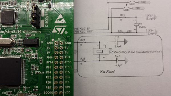 stm32f4 disco rtc mounted